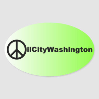 Oil City Washington Peace Sticker
