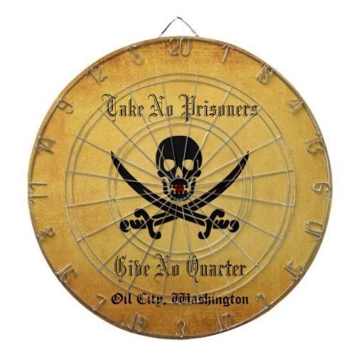 Oil City, washington Pirate Dart Board