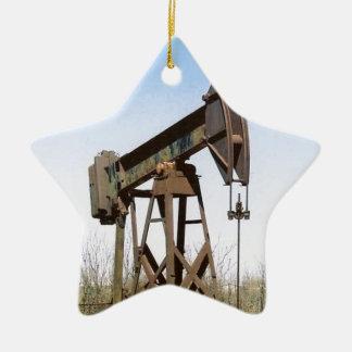 Oil Pumping Rig Ceramic Star Decoration