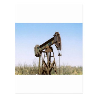 Oil Pumping Rig Postcard