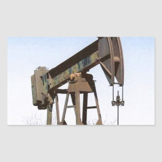 Oil Pumping Rig Rectangular Sticker