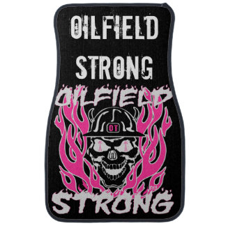 Oilfield Strong in Pink and White Floor Mat