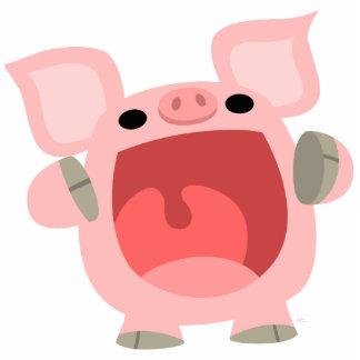 """""""OINK!!!"""" Cute Cartoon Pig Photo Sculpture"""