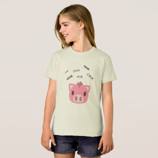 Oink Pig Cute Emoji T-Shirt