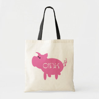 Oink Pink Pig Tshirts and Gifts Tote Bag