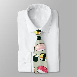 Oishii Sushi Fun Illustrations Pattern Tie