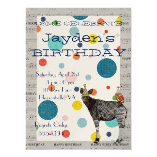 OKAPI & OWL BIRTHDAY INVITATION