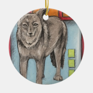 Oklahoma Coyote Christmas Ornament