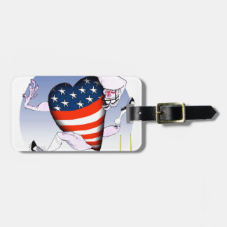 oklahoma loud and proud, tony fernandes luggage tag