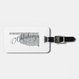 Oklahoma State Typography Luggage Tag
