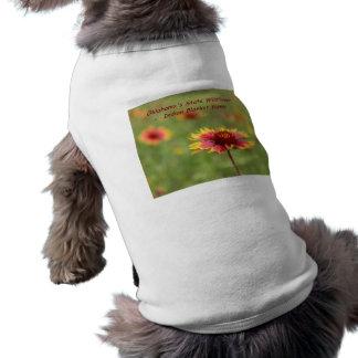 Oklahoma State Wildflower - Indian Blanket Flower Sleeveless Dog Shirt