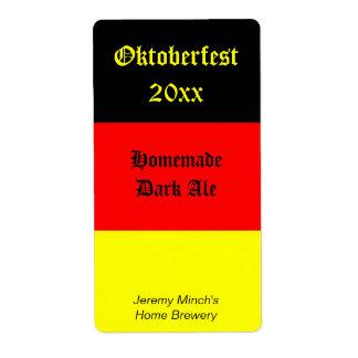 Oktoberfest Beer Label