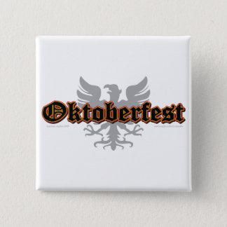 Oktoberfest Bird 15 Cm Square Badge