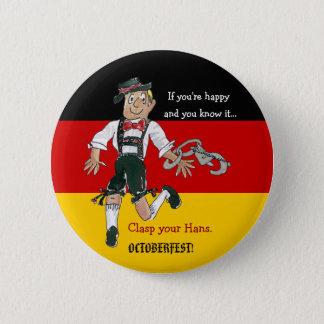 Oktoberfest Cartoon Button Pin