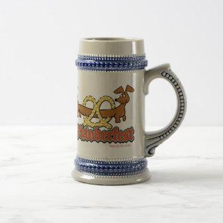 Oktoberfest-Cartoon-Pretzel-Doxie Beer Stein
