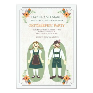 Oktoberfest Couple Invitation