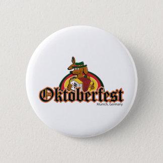 OKTOBERFEST Dachshund Playing Accordian 6 Cm Round Badge