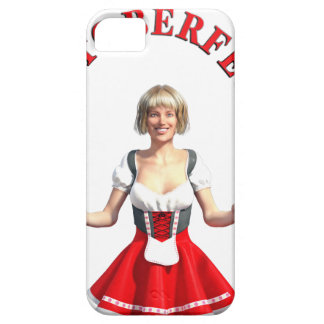 Oktoberfest Girl with Beer steins and Title Case For The iPhone 5