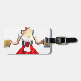 Oktoberfest Girl with Beer Steins Luggage Tag