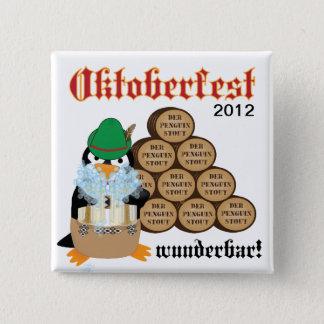 Oktoberfest Penguin Button