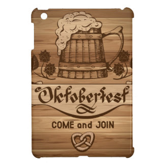 Oktoberfest, vintage poster with wooden case for the iPad mini