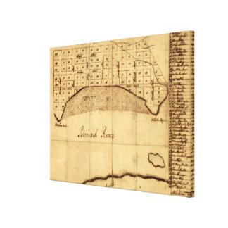 Old Alexandria VA Map by George Washington (1749) Canvas Print