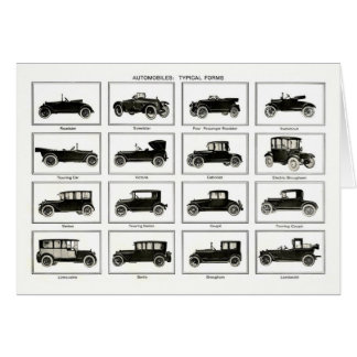 Old and classic car (retro auto): Vintage Cars Card