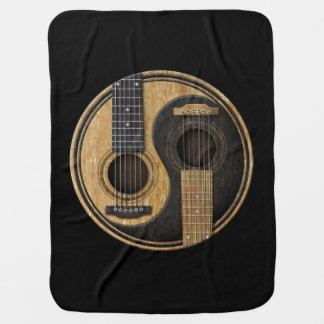 Old and Worn Acoustic Guitars Yin Yang Baby Blanket