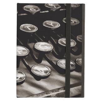 Old Antique Typewriter Keys Black White iPad Air Cover