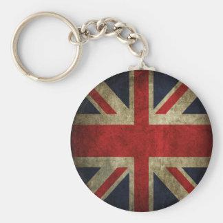 Old Antique UK British Union Jack Flag Key Ring