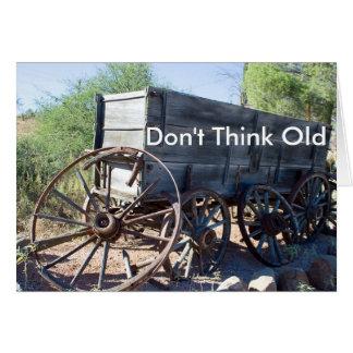 Old Arizona Wagon Greeting Card