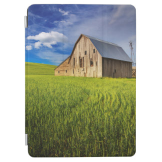 Old Barn Surrounded by Spring Wheat Field 1 iPad Air Cover