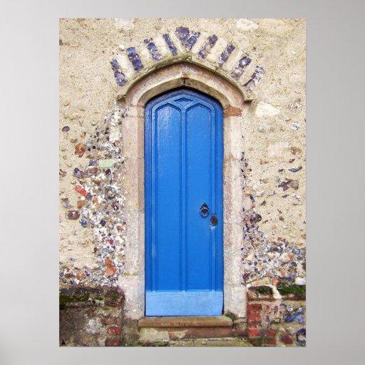 Old Blue Door Print