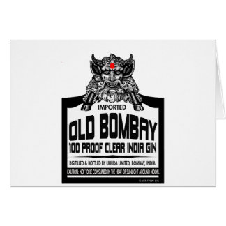 Old Bombay Gin Card