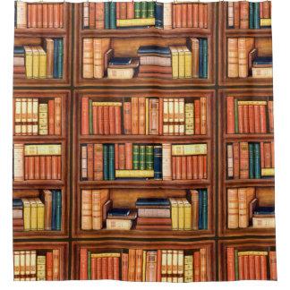 Old Books Bookshelf Shower Curtain