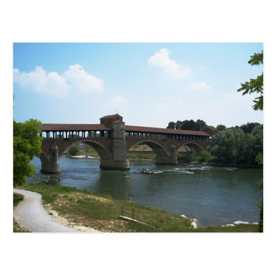Old Bridge Pavia Postcard