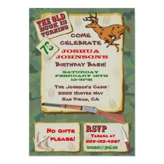 Old Buck Deer Hunting Birthday Party Invitations