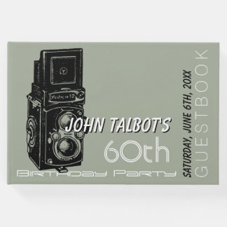 Old Camera 60th birthday Party Guest Book 1