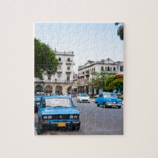 Old cars on the Havana streets Jigsaw Puzzle
