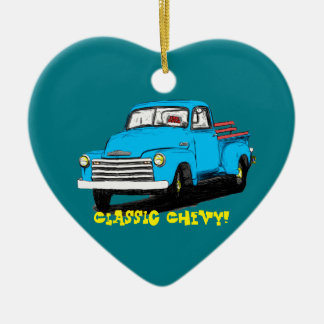 Old Chevy Pickup Truck Christmas Ornament