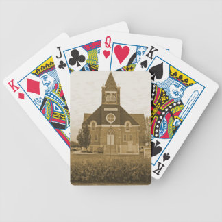 Old Country Church Bicycle Playing Cards