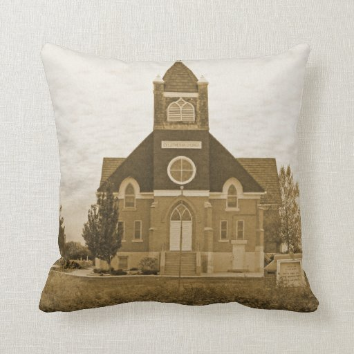 Old Country Church Throw Pillows
