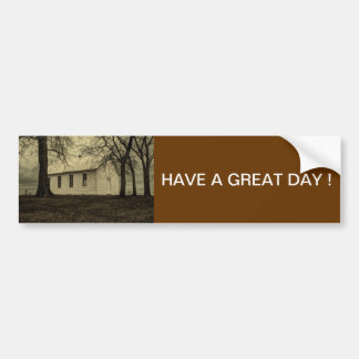 Old country church in the fall time. bumper sticker
