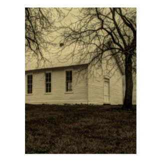 Old country church in the fall time. postcards