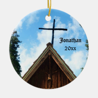 Old Country Church Personalized Christmas Ornament