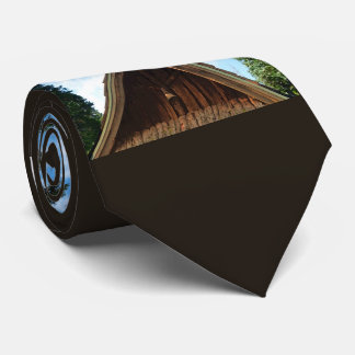 Old Country Church, Vintage Cross and Bell Tie