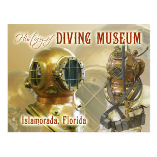 Old Diving Equipment, History of Diving Museum, FL Postcard