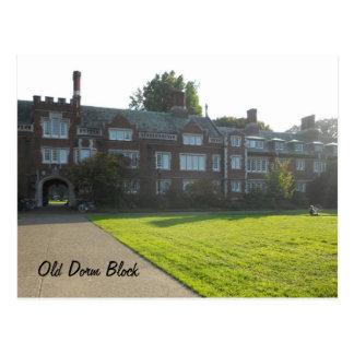 Old Dorm Block view 2 Postcard