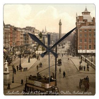 Old Dublin Ireland wall clock, Sackville Street Square Wall Clock