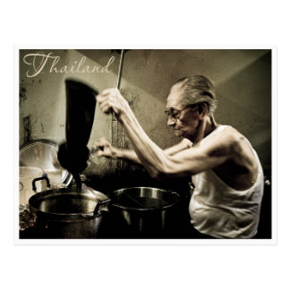 Old Fashion Coffee Making, Thailand Postcard